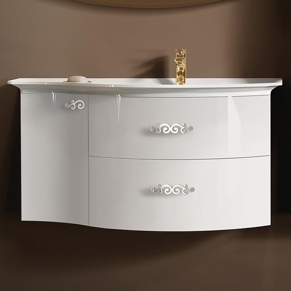 Раковина с тумбой полукруглая в ванную